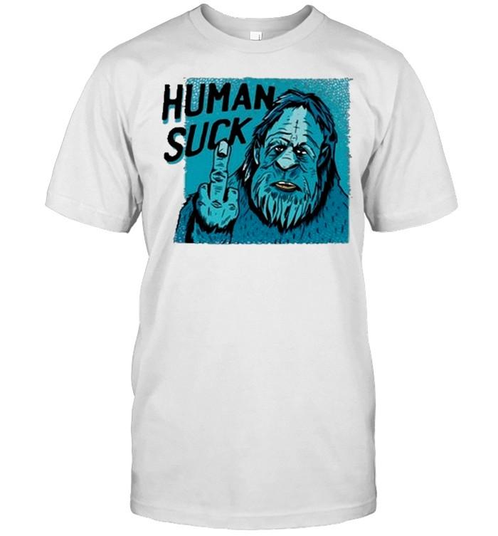 Bigfoot human suck shirt Classic Men's T-shirt