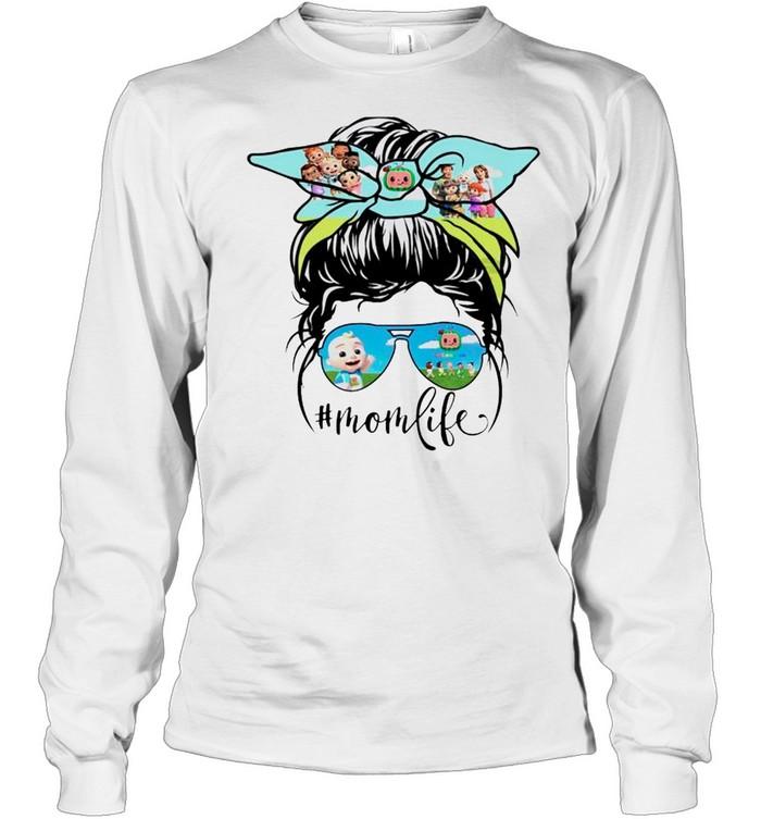 Cocomong characters Mom life shirt Long Sleeved T-shirt