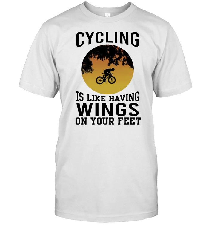 Cycling Is Like Having Wings On Your Feet shirt Classic Men's T-shirt