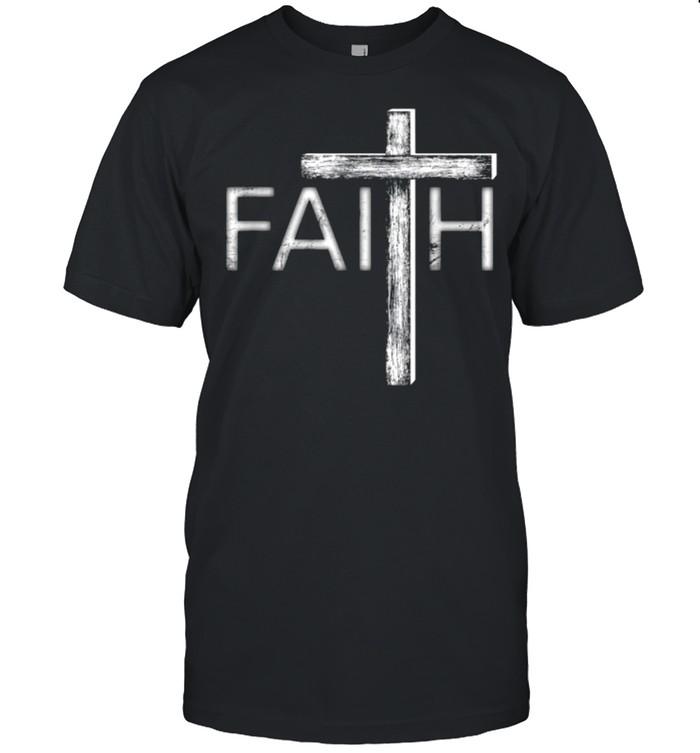 Distressed Faith Christian shirt Classic Men's T-shirt