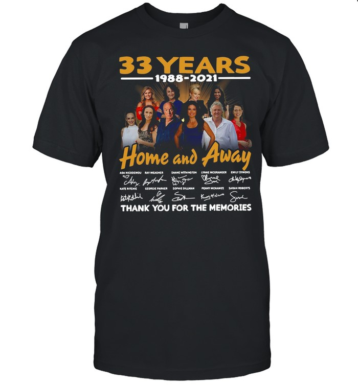33 Years 1988 2021 Home And Away Thank You For The Memories Signature T-shirt Classic Men's T-shirt