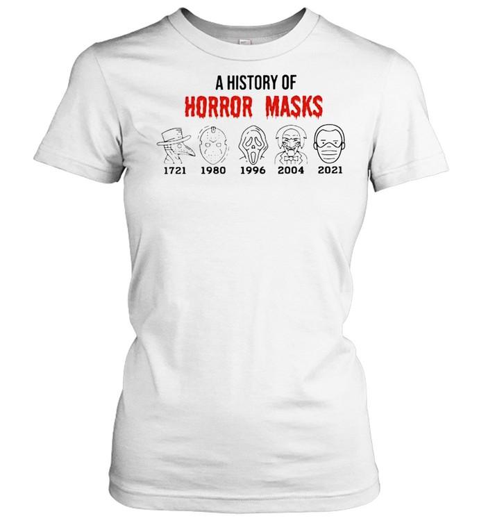 A history of horror masks 2021 Biden shirt Classic Women's T-shirt