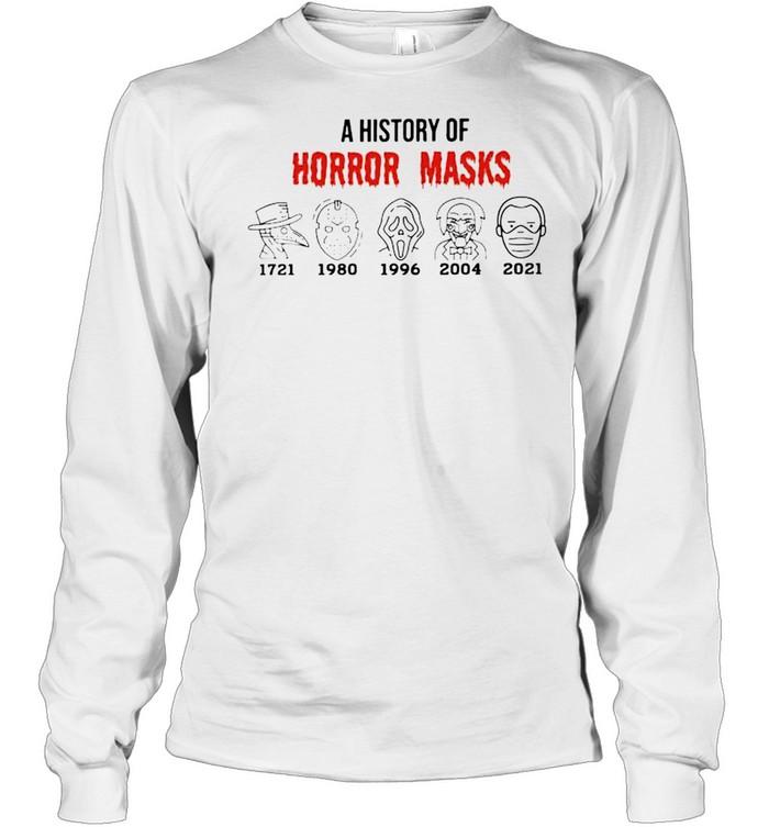 A history of horror masks 2021 Biden shirt Long Sleeved T-shirt