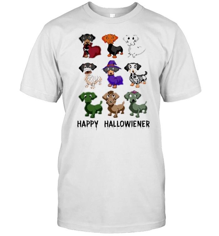 Dachshunds Witch Happy Halloween shirt Classic Men's T-shirt