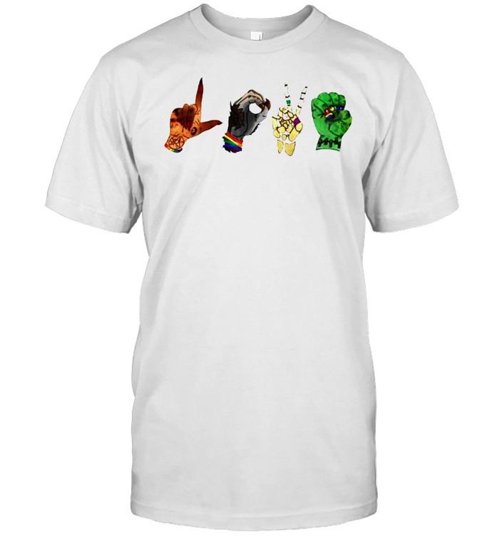 Halloween monster love hand sign shirt Classic Men's T-shirt