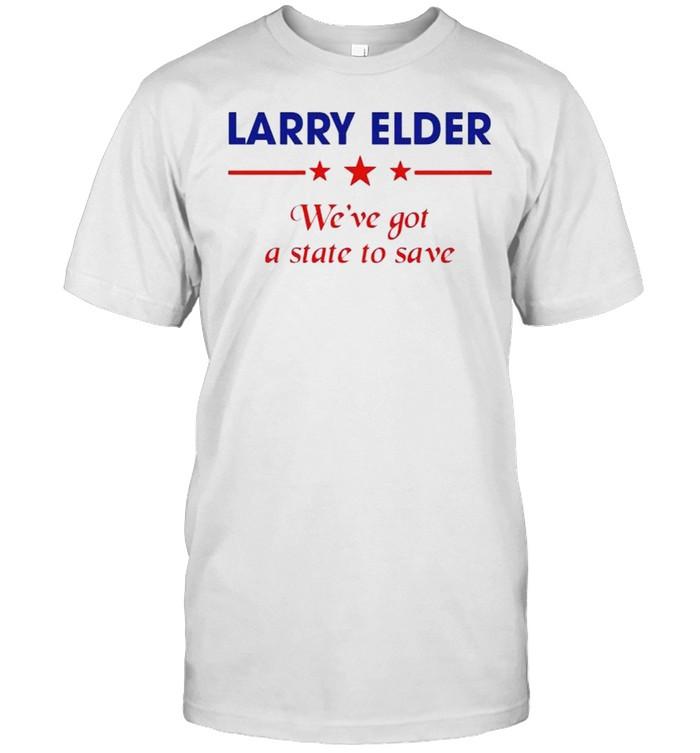 Larry Elder we've got a state to save shirt Classic Men's T-shirt