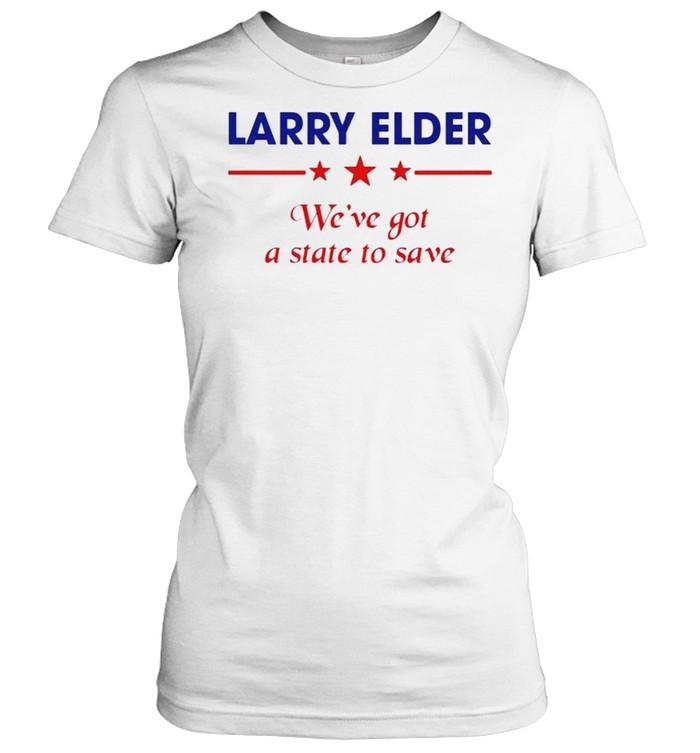 Larry Elder we've got a state to save shirt Classic Women's T-shirt