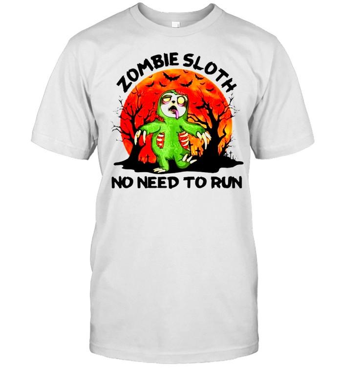 Zombie sloth no need to run Halloween shirt Classic Men's T-shirt