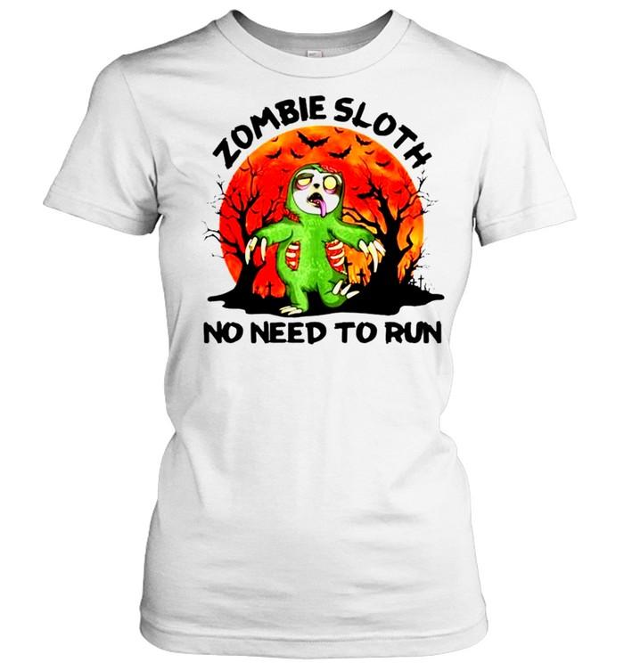 Zombie sloth no need to run Halloween shirt Classic Women's T-shirt