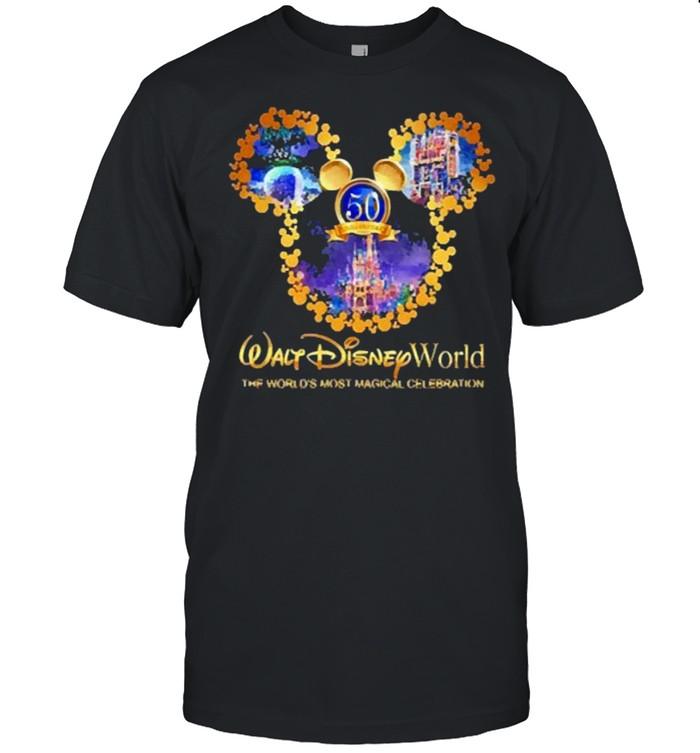 50th anniversary walt disney world the worlds most magical celebration shirt Classic Men's T-shirt