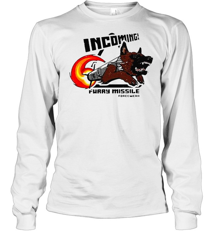 Incoming Furry Missile Force Wear T-shirt Long Sleeved T-shirt
