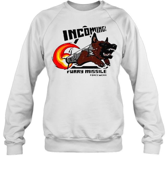 Incoming Furry Missile Force Wear T-shirt Unisex Sweatshirt