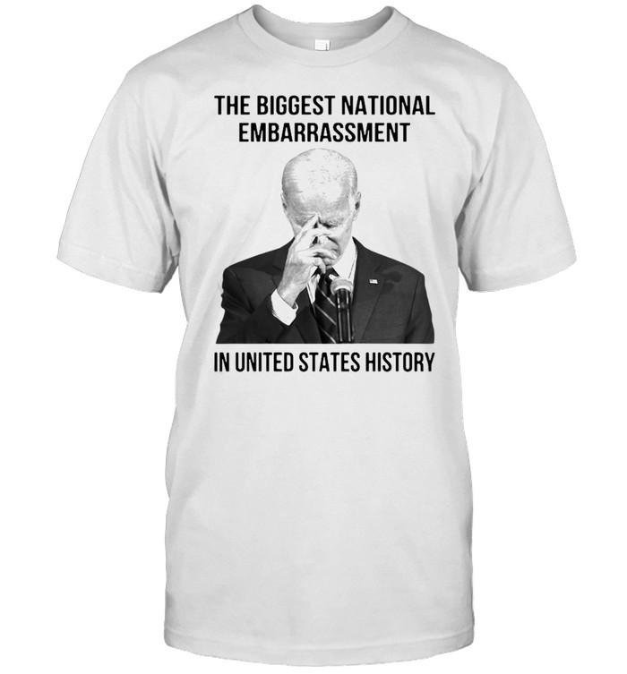 Joe Biden the biggest national embarrassment in United States history shirt Classic Men's T-shirt