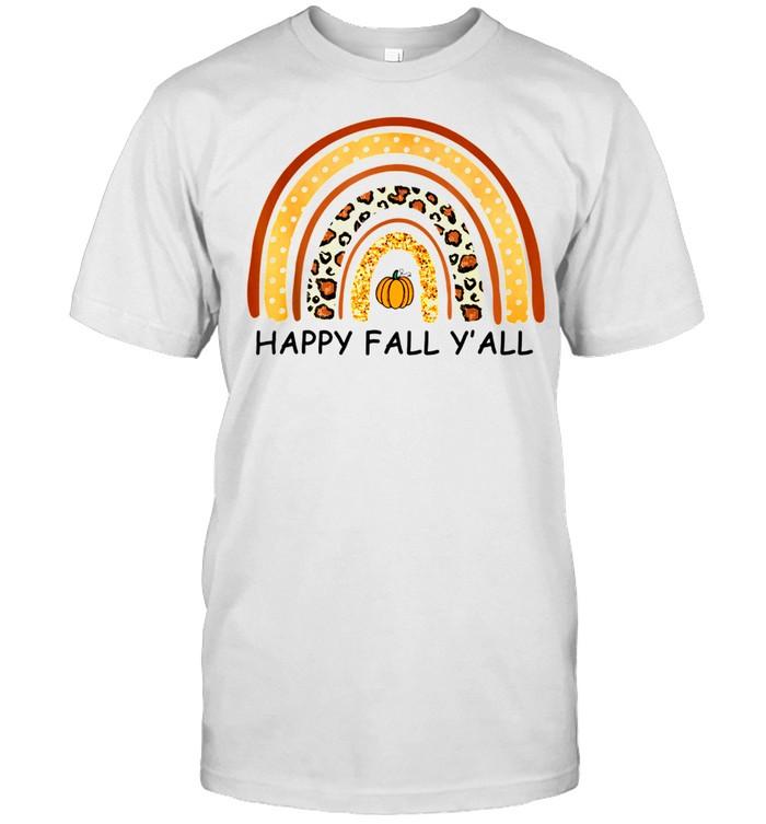 Autumn Happy Fall Y'All Raibow Fall shirt Classic Men's T-shirt