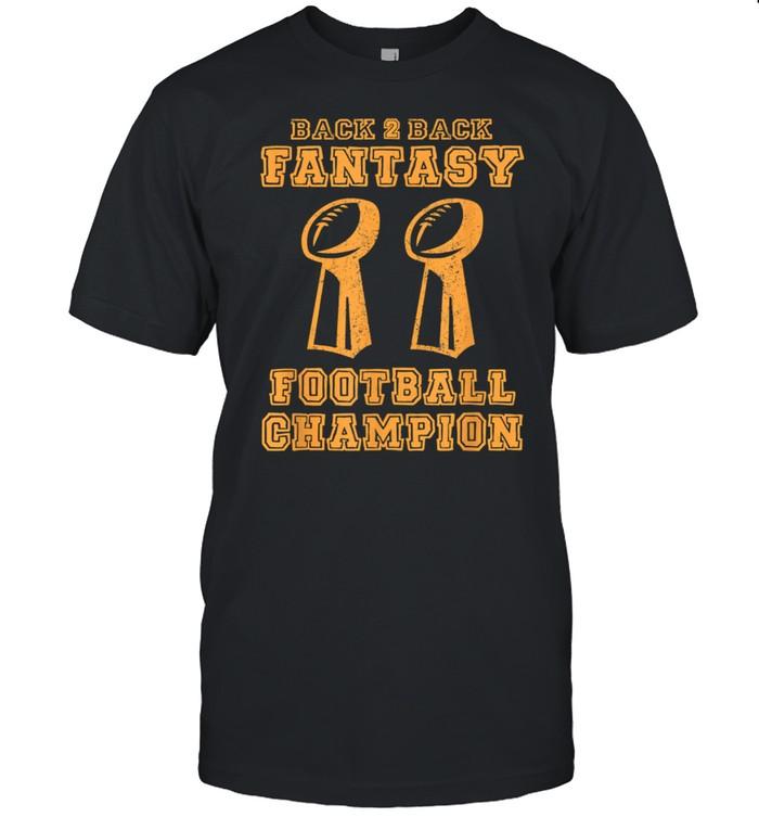Back to Back Champion Fantasy Football Draft Party Kit shirt Classic Men's T-shirt