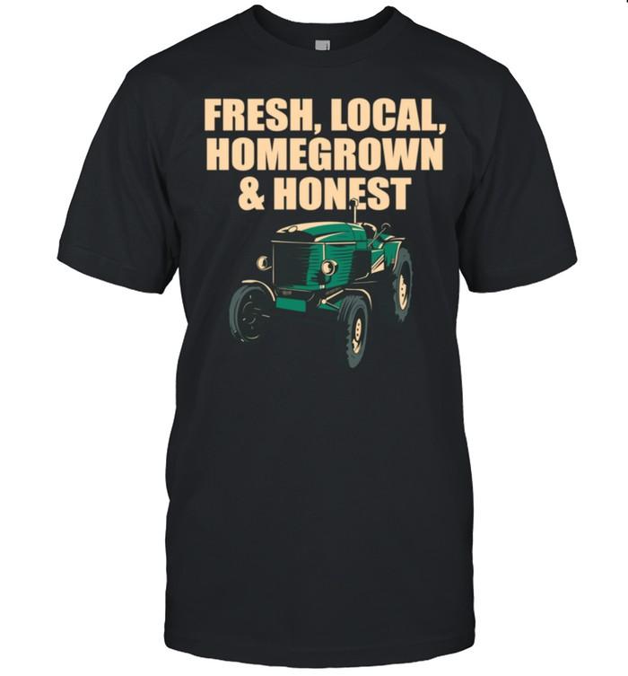 Local Homegrown & Honest Farmer Gardening Rancher Gardener shirt Classic Men's T-shirt
