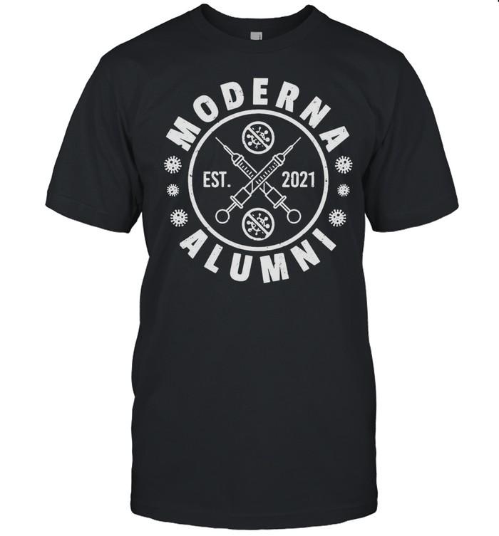 Moderna Alumni Est 2021 Vaccine Team T-shirt Classic Men's T-shirt