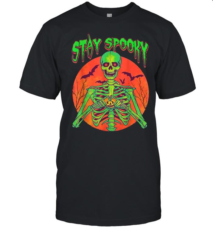 Stay Spooky Halloween Spooky Creepy Gothic Scary Skull  Classic Men's T-shirt