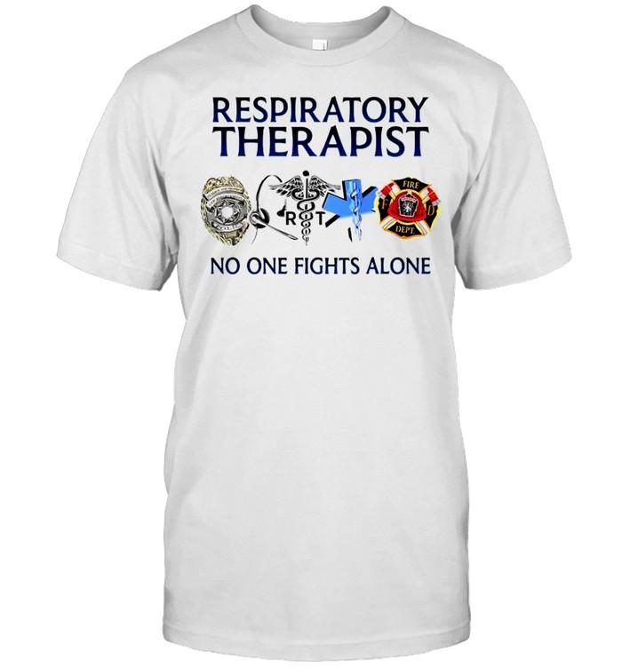 Respiratory therapist no one fights alone T-shirt Classic Men's T-shirt