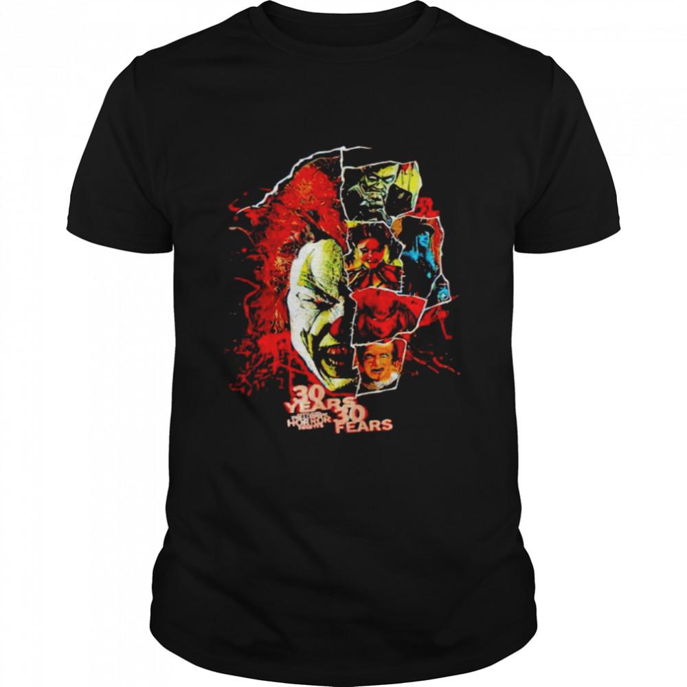 2021 Universal Orlando Halloween Horror Nights 30 years 30 fears shirt Classic Men's T-shirt