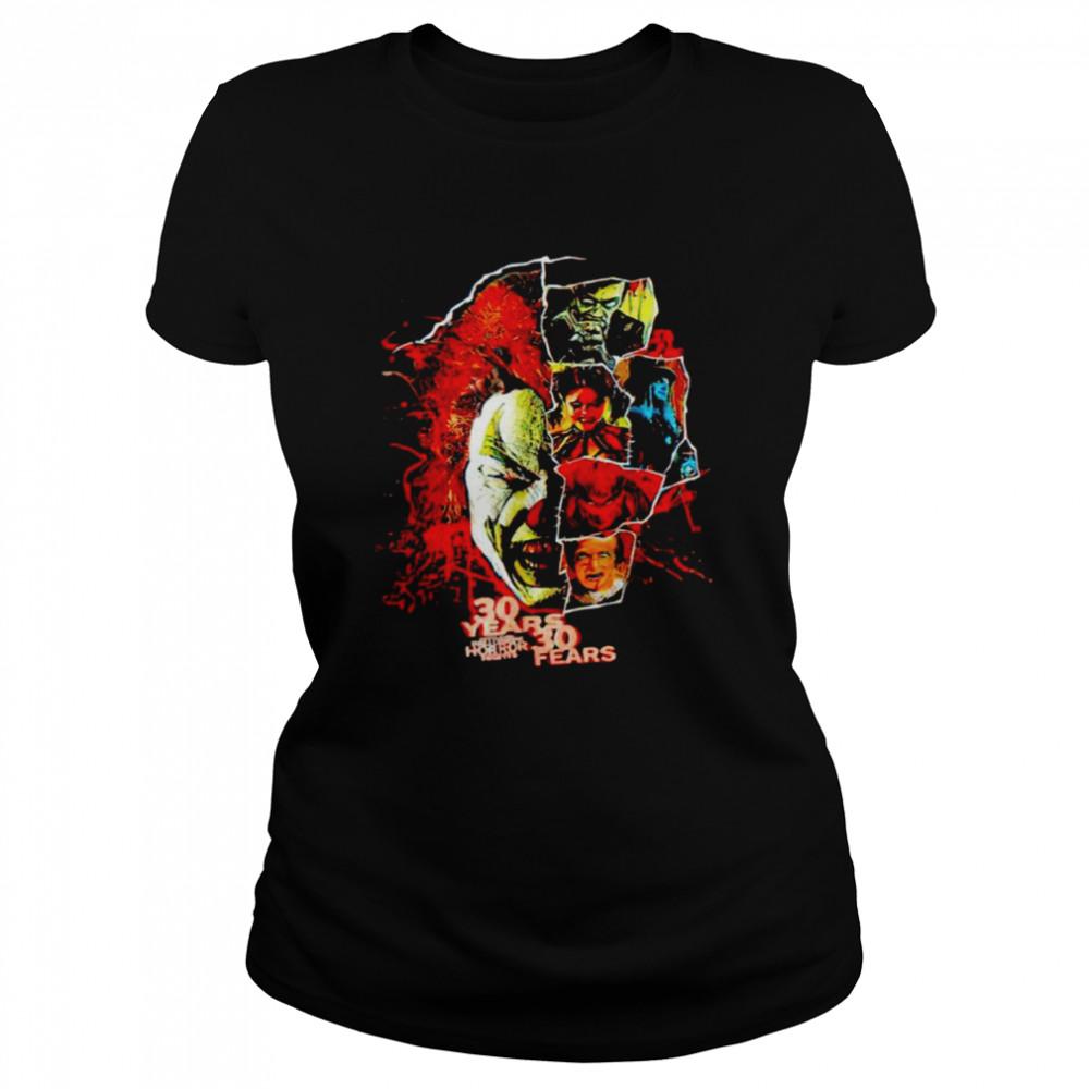 2021 Universal Orlando Halloween Horror Nights 30 years 30 fears shirt Classic Women's T-shirt