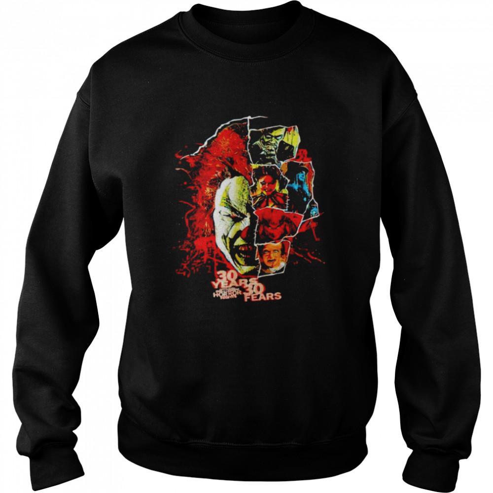 2021 Universal Orlando Halloween Horror Nights 30 years 30 fears shirt Unisex Sweatshirt
