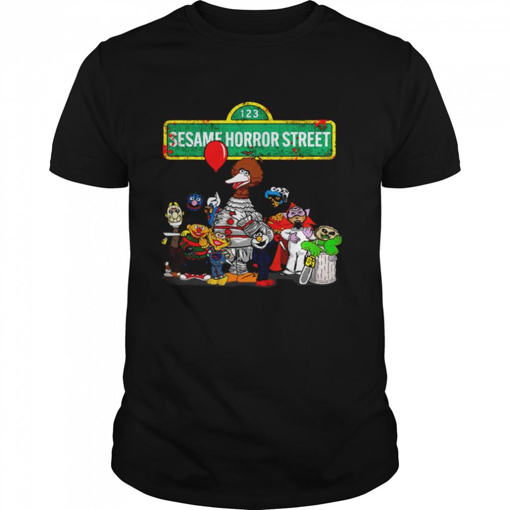 123 Sesame Horror Street  Classic Men's T-shirt